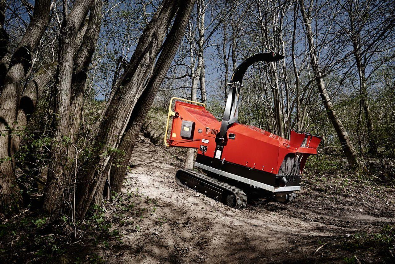 Broyeur de branches chenilles diam tre 160 mm avec chenilles - Broyeur a branche ...