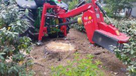 Rogneuse de souches, dessoucheuse derrière tracteur T65